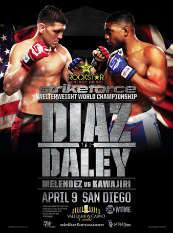 Strikeforce Diaz vs Daley Poster